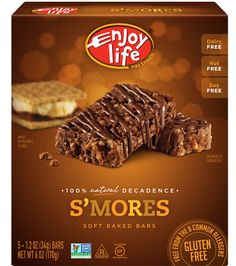 Decadent Soft Baked Bars - S'mores - dairy-free, nut-free, soy-free, food allergy-friendly