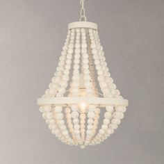 John Lewis Lottie Ceiling Light, White at John Lewis Ceiling Lamp Shades, Flush Ceiling Lights, Ceiling Lighting, Shell Chandelier, Beaded Chandelier, Chandeliers, Copper Pendant Lights, Pendant Lighting, Pendant Lamps