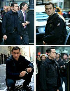 "Joseph Gordon-Levitt portrays the character of John Blake in the movie ""The Dark Knight Rises""........"