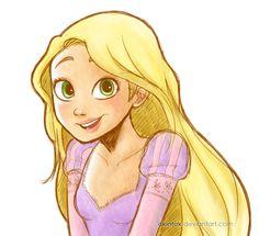 Rapunzel by akintak on deviantART