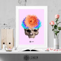 Eternally alive print Modern wall art Vintage home por LehaimDesign