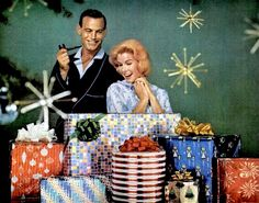 "A Mid-Century Modern Christmas Wonderland of gifts! ""There better be a ring in one of those boxes."""
