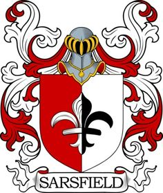 Sarsfield Family Crest and Coat of Arms