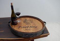 #ebay #Barrel #Top #Wine #Lazy #Susan #Recycled #Wood #Oak #Handmade #Food #Serving #Turntable #Unbranded