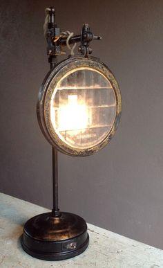 Vintage auto headlight lens lamp by Joy Price