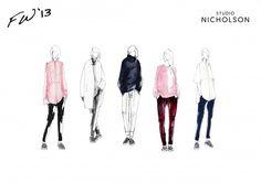 Studio Nicholson Line up illustration
