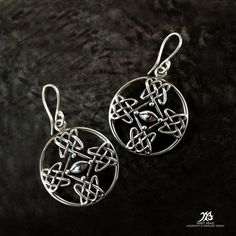 Dave Gahan's cross tattoo 925 handmade earrings by LittleTreasuresByMir