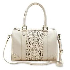 Attention Women's Perforated Satchel Bag
