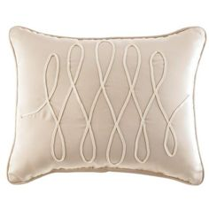 Croscill Pearl Grace Boudoir Pillow (335 CNY) found on Polyvore featuring home, bed & bath, bedding, bed pillows, pearl, croscill and ivory euro sham