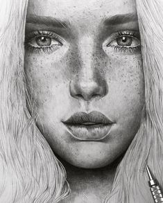 Girl Drawing Sketches, Portrait Sketches, Pencil Art Drawings, Cool Art Drawings, Realistic Drawings, Drawing Skills, Pencil Portrait, Portrait Art, Pencil Sketching