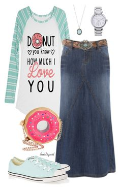 """""""Doughnuts!"""" by burlsgurl ❤ liked on Polyvore featuring Converse, Betsey Johnson, Armenta and MICHAEL Michael Kors"""