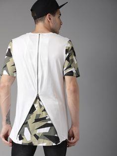 Buy Moda Rapido Men White Solid Round Neck T Shirt - Tshirts for Men 4331713 | Myntra