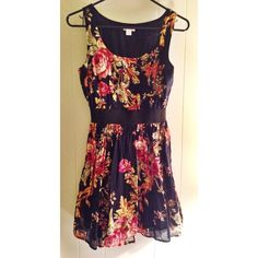 Xhilaration Beautiful Floral Dress Love this one.. sad to see it go. Beautiful floral design. Fun for a night on the town or even for a warm day. Size Small. Xhilaration Dresses