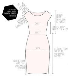 Very easy sheath dress tutorial (this one with contrast back!)