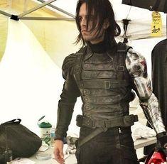 The Mortal Instruments Cast, Bucky Barnes, Sebastian Stan, Infinity War, Winter Soldier, Man Candy, Marvel Universe, Marvel Dc, Motorcycle Jacket