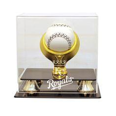 Kansas City Royals MLB Single Baseball Gold Ring Display