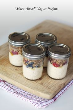 "Recipe: ""Make Ahead"" Yogurt Parfaits 