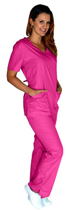 This top comes with back ties that can be adjusted for a comfortable and flattering fit. Featured here in Hot Pink.