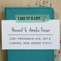 Custom Rubber Stamp - Self Inking Address Stamp - Amelia. $27.95, via Etsy.