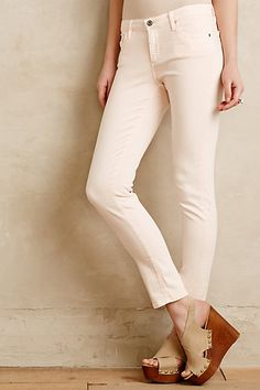 AG Stevie Ankle Jeans #anthropologie  Cute but like the royal blue ones on the website, not this color.