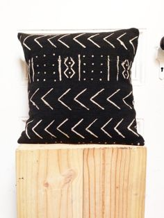 BOGOLAN Mud Cloth/ African Mudcloth Pillow Covers 16x16 by OSxN