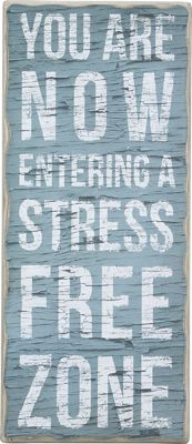 wall-decor-signs-9x21 Stress Free Zone Box Sign