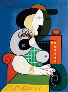 Pablo Picasso (1881-1973). Seated Woman with Wrist Watch; 1932 Oil on canvas 51 3/16 x 38 3/16 in. (130 x 97 cm). Collection of Emily Fisher Landau