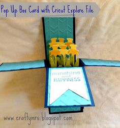 CraftyMrs: Cricut Explore {Pop Up Box Card} A2 sized with Design Space File