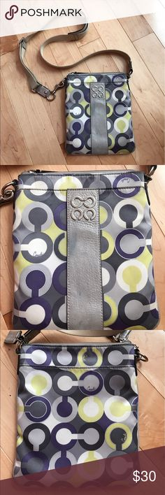 Coach Multi Color Crossbody used crossbody in fair condition, please see pictures for markings on the bag Coach Bags Crossbody Bags