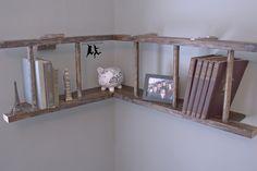 Wall Mounted L Shaped Old Wood Ladder Shelves With White Wall Color Creative Ladder Shelves Furniture Ideas Home Accessories, Furniture, Interior Design ladder shelf pattern. ladder bookshelf walmart. ladder like bookshelf.