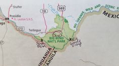 Big Bend National Park map Big Bend Hiking Camping Pinterest