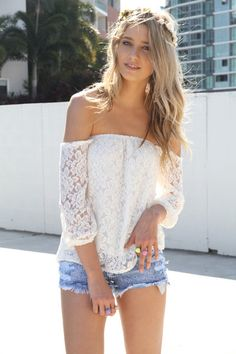 TOP: http://www.glamzelle.com/collections/tops/products/boho-white-lace-off-the-shoulder-top