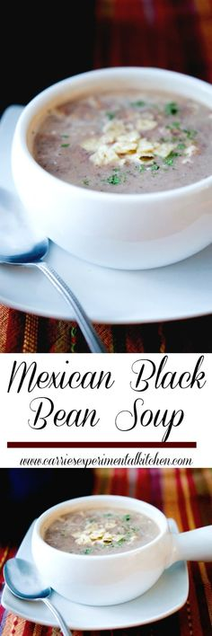 Make this three ingredient Mexican Black Bean Soup in a matter of minutes. The best part is, you decide just how spicy you like it!