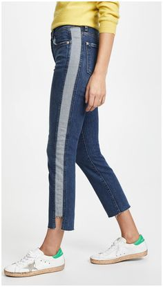 online shopping for 7 For All Mankind Edie Side Panel Jeans from top store. See new offer for 7 For All Mankind Edie Side Panel Jeans Jeans Recycling, Umgestaltete Shirts, Band Shirts, Denim Fashion, Fashion Outfits, Punk Fashion, Jeans Refashion, Sewing Pants, Denim Ideas