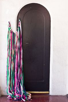 Crepe Streamer Curtain.