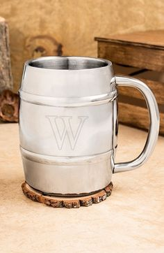 CATHY'S+CONCEPTS+Personalized+Stainless+Steel+Keg+Mug+available+at+#Nordstrom