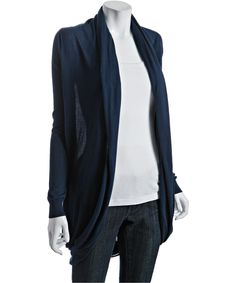 Long Navy Cardigan