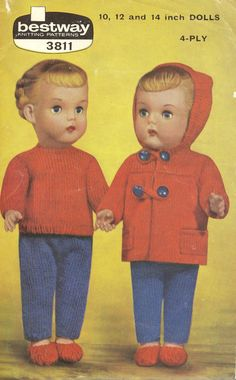 Bestway 3811 dolls duffle coat set  for 10 12 and 14 by Ellisadine, £1.05