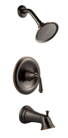 Design House 524652 Oil Rubbed Bronze Tub & Shower Faucet