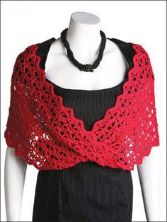Linda chalina en rojo o bufanda