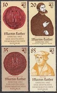 Alemania Oriental 1983 Conmemoración del 500 aniversario del natalicio Martín Lutero