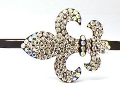 Amazon.com: Irodenscent Fleur De Lis Rhinestone Headband, Perfect for Women, Teens & Girls, Bling Bling Hair Accessory. Perfect for Christmas, Church, First Communion, Easter, Graduation, Sunday Dress, Christening or Birthday.: Everything Else