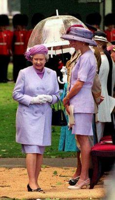Diana and Queen Elizabeth II