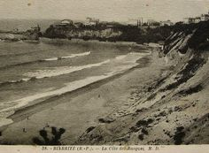Biarritz France  Unused Vintage French Postcard by ChicEtChoc, $3.50