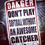meagan this is for you.your an awesome catcher. Softball Rules, Softball Stuff, Girls Softball, Fastpitch Softball, Softball Players, Volleyball, Basketball, Sports Slogans, Softball Catcher