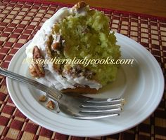 NUTTY PINEAPPLE PISTACHIO CAKE - looks so good!  My grandma used to make a pistachio cake for our birthdays, this looks similar.