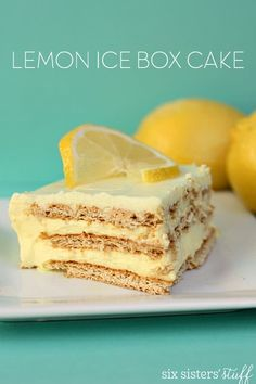 Dessert Recipes – How To Make White Almond Wedding Cake – Cake Decorating Online Köstliche Desserts, Lemon Desserts, Lemon Recipes, Delicious Desserts, Dessert Recipes, Lemon Cakes, Jello Recipes, French Desserts, Wedding Desserts