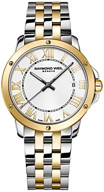 Raymond Weil 5591-STP-00308 Men's Tango Silver Dial Two-tone Stainless Steel Watch, Multi on shopstyle.co.uk