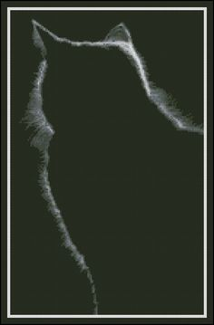 Black Cat Aura -  Counted Needlepoint and Cross Stitch Chart Patterns. $9.99, via Etsy.