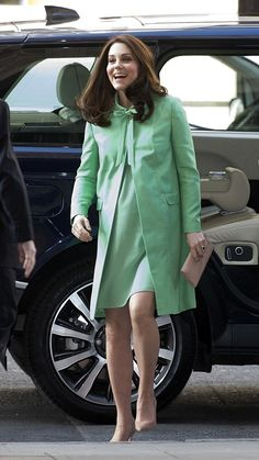 Catherine, Duchess of Cambridge arrives for a symposium she has organized on early intervention for children and families at the Royal Society of Medicine on March 21, 2018 in London, England.
